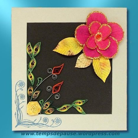quilling et fleur en papier | Temps de Pause | Quilling and papermade | Scoop.it