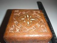 Carved Wooden Inlaid Trinket Box and smaller box Made In India   wooden nautical item   Scoop.it