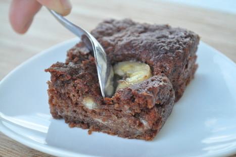 Moelleux chocolat banane (c'est pas pour @LolaLevanti...) | A table ! | Scoop.it