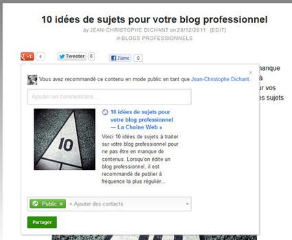 Dossier Google Plus – 3 façons de partager et vous et vous … | Technologies numériques & Education | Scoop.it