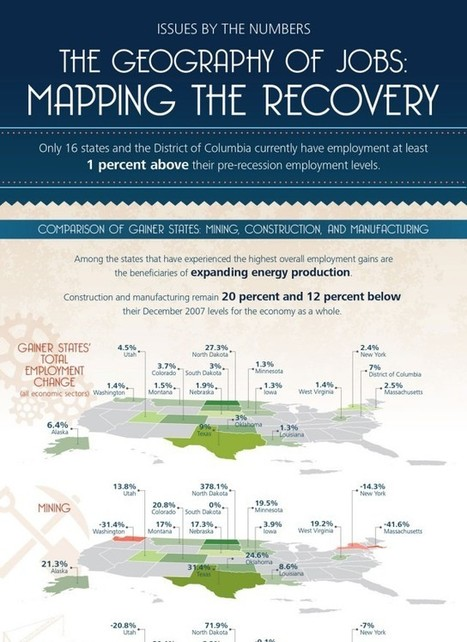 The geography of jobs: Mapping the recovery (infographic)   Geography is actually useful!   Scoop.it