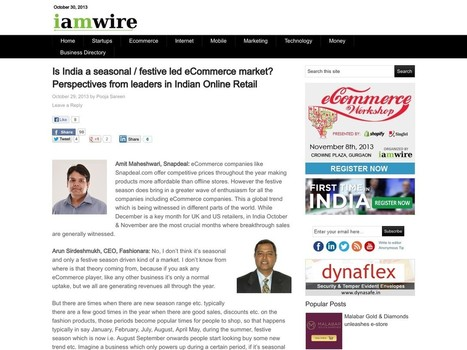 Is India a seasonal / festive led eCommerce market? Perspectives … | Digital-News on Scoop.it today | Scoop.it