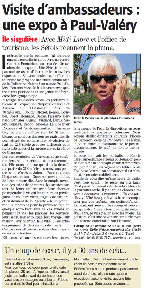 Exposition David et Ezra Nahmad | Sète Tourisme : les ambassadeurs-reporters sur le terrain | Scoop.it