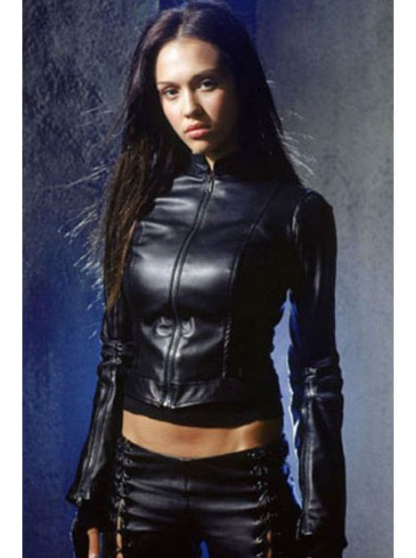 Dark Angel Max Guevera Jessica Alba Womens Black Slimfit Leather Jacket | movie leather jackets | Scoop.it