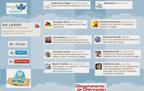 Cuentas en Twitter de Departamentos y Equipos de Orientación | Orientación Educativa - Enlaces para mi P.L.E. | Scoop.it