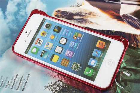 Luxury Ultra-thin 0.7mm Aluminum Metal Case Bumper Case With Buckle For iPhone 5 Red | News For Electronic Parts | Scoop.it