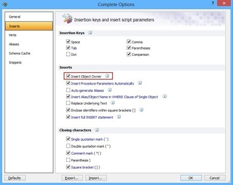 ApexSQL Complete vs. SSMS – Part 5 – Options not supported by SSMS intellisense | SQL Formatter | Scoop.it