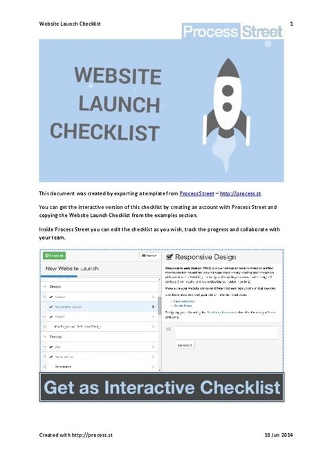 Website Launch Checklist | Business Process Management | Scoop.it