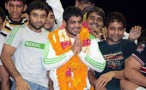 Images: Olympic heroes Sushil, Yogeshwar return home | Firstpost | Sports Photography | Scoop.it
