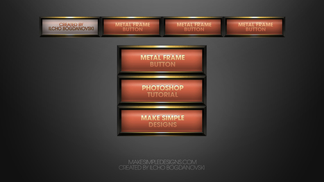 Create a Metallic Frame Button in Photoshop | The Official Photoshop Roadmap Journal | Scoop.it