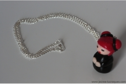 Collier poupée en pâte Fimo - Je crée tu craques | Mes créations de bijoux fantaisie et autres | Scoop.it