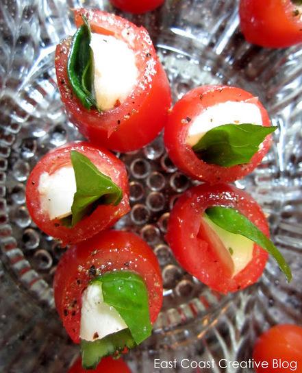 Mozzarella & Basil Tomato Pockets | Intentando cocinar | Scoop.it