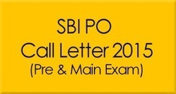 SBI PO Admit Card / Call Letter Download | Education | Scoop.it