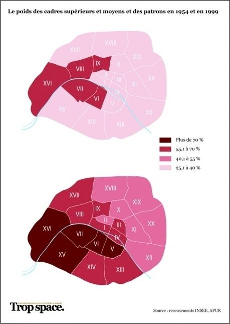 Cartographie des inégalités à Paris : fractures sociales etspatiales | Journalisme graphique | Scoop.it