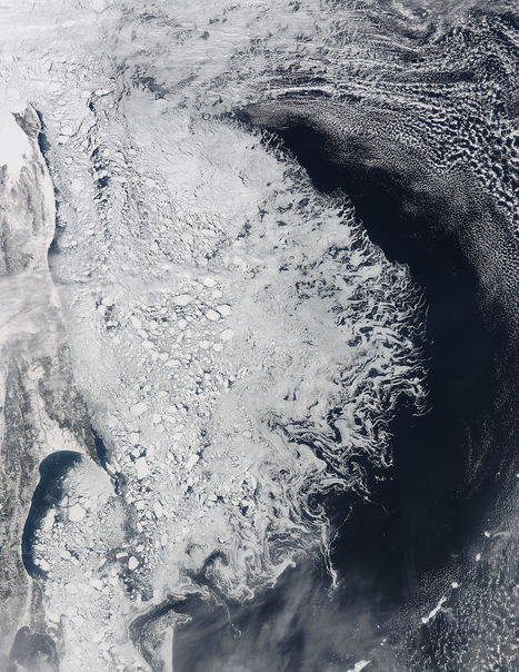 NASA MODIS Image of the Day: March 30, 2012 - Ice in the Sea of Okhotsk | SpaceRef - Your Space Reference | Remote Sensing News | Scoop.it