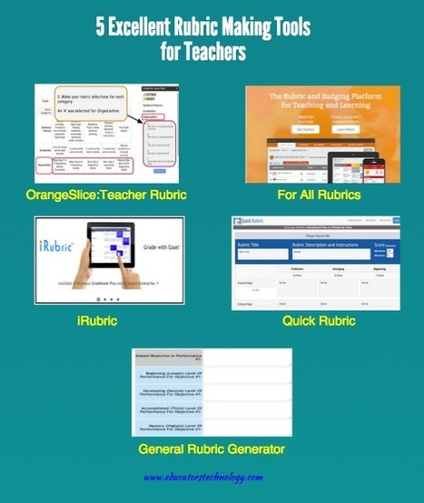 5 Excellent Rubric Making Tools for Teachers  | E-learning, Blended learning, Apps en Tools in het Onderwijs | Scoop.it