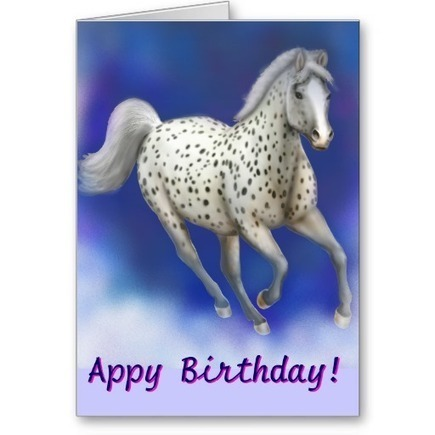 Customizable Happy Appy Birthday Appaloosa Greeting Cards from Zazzle.com   Artistic Greeting Cards   Scoop.it
