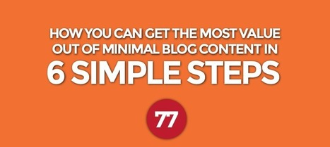 How You Can Get the Most Value Out of Minimal Blog Content in 6 Simple Steps | Content Marketing | Scoop.it