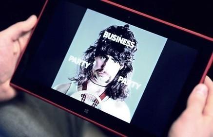 Nokia quảng cáo Lumia 2520 bằng... tóc   AnhEm.vn   Scoop.it