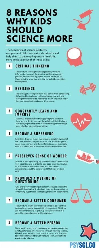 8 razones para que los niños estudien ciencias… o cualquier otra cosa | Frontera | Cuaderno de Cultura Científica | Contenidos para usuarios educativos de P | Scoop.it