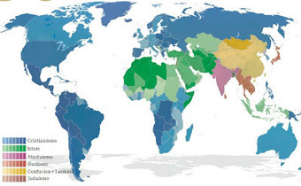 Religiones: Mapas de Religiones | A TRAVÉS DEL TIEMPO | Scoop.it