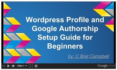 WordPress Profile and Google Authorship Setup Guide for Beginners   Everything WordPress   Scoop.it