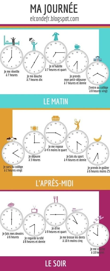 El Conde. fr: Ma journée | J'adore le français! | Scoop.it