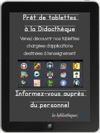NetPublic » Prêter des tablettes : guides pratiques, règlement et sélection d'applis | Bibliotecas Escolares. Curating and spreading Portuguese School Libraries action | Scoop.it