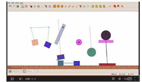 Physion : Un logiciel de simulation physique 2D | Je, tu, il... nous ! | Scoop.it