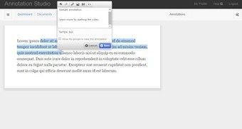 Free Technology for Teachers: Annotation Studio - Annotate Shared Documents With Text, Video, and Images | El rincón de mferna | Scoop.it