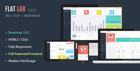 FlatLab - Themeforest Bootstrap 3 Responsive Admin Template | web | Scoop.it