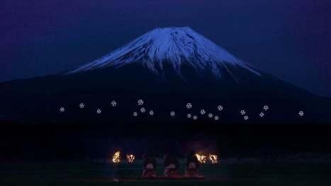 Drone Ballet Turns Mount Fuji Into Cyberpunk Lightscape | Post-Sapiens, les êtres technologiques | Scoop.it