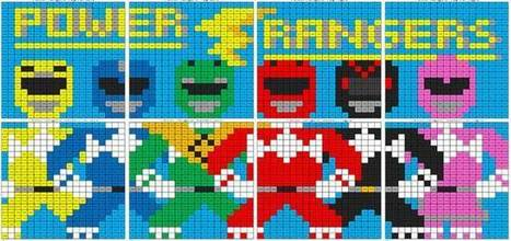 Power Rangers Addition and Subtraction Mural | Coloring Squared | Scoop.it