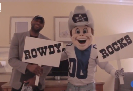 WATCH: LeBron James gets pranked by Dallas Cowboys mascot | Mascots | Scoop.it