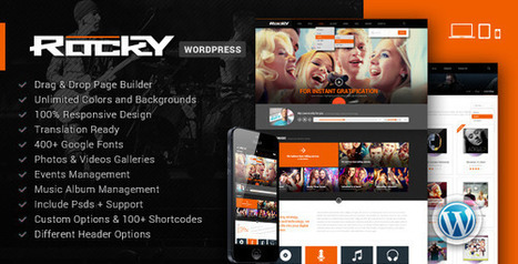 Rocky- Event & Music Band Theme (Music and Bands) | Best HTML Themes | Scoop.it