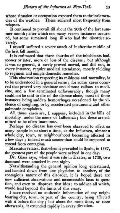 1808-1809, The Influenza Epidemic | Influenza | Scoop.it