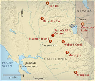 American Experience | The Gold Rush | Map | PBS | Gold Rush | Scoop.it