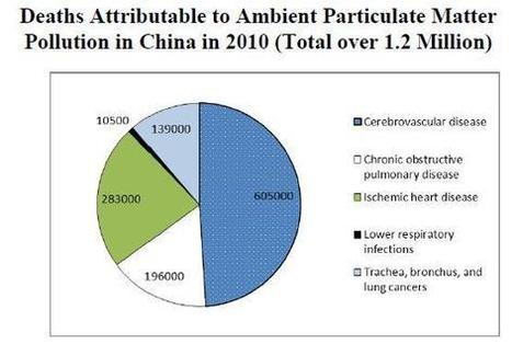 Report: 1.2 mln Chinese died from air pollution in 2010 | gbtimes | The social costs of Chinese growth | Scoop.it