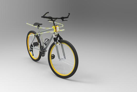 """Reflective Bike """"Whiskers"""" Create Personal Cycling Lanes 
