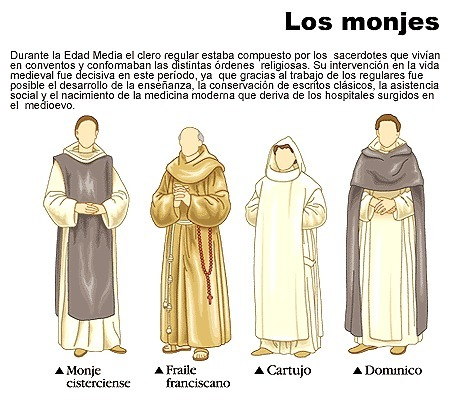 39 vestimenta clero 39 in poca medieval vestuario y calzado - Ropa interior medieval ...