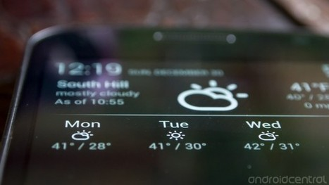 Notification Weather: an elegant way to check the forecast | Android Central | Smart Phone & Tablets | Scoop.it