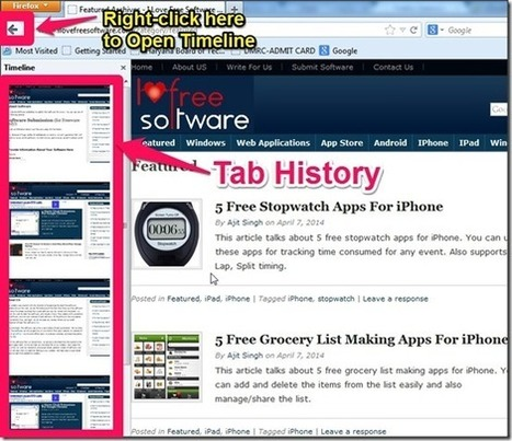 Firefox Extension to See History Of a Tab in Form of Screenshots | Time to Learn | Scoop.it