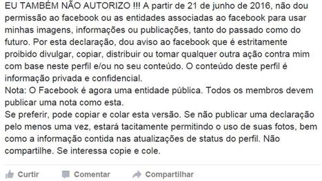 Texto que veta uso pelo Facebook de conteúdo publicado na rede social 'não serve para nada' - BBC Brasil | EVS NOTÍCIAS... | Scoop.it