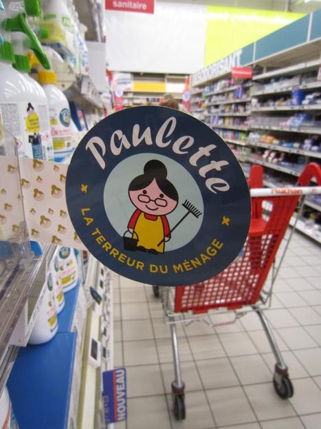 Un balisage rayon signé Paulette - la terreur du ménage - 18marketing | Marketing et Promotions | Scoop.it