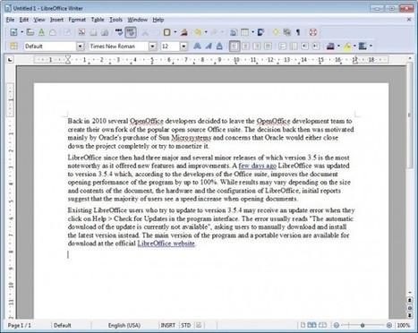 LibreOffice 3.5.4 Update brings huge Performance Boost - Ghacks Technology News   TDF & LibreOffice   Scoop.it