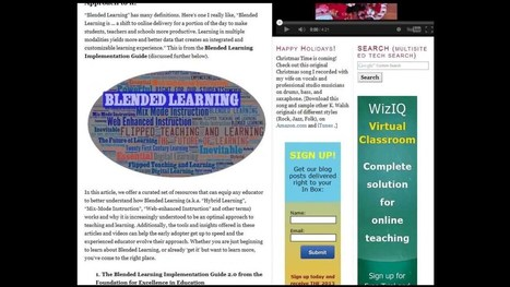 7 Excellent Free Blended Learning Resources -- the Whys and Hows of Mixed Mode Instruction | Digital Technology for Language Teaching | Scoop.it