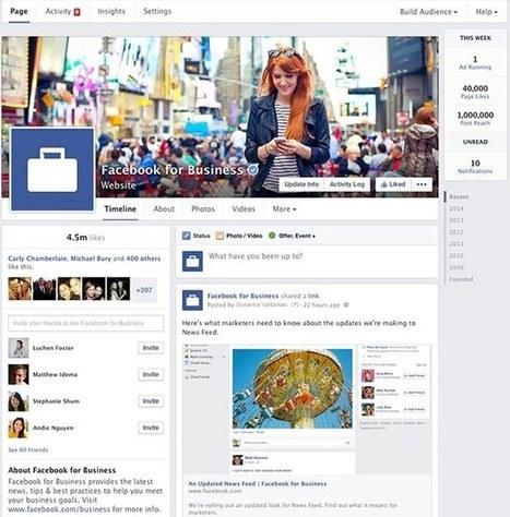 Facebook dévoile un nouveau design pour les Pages d'entreprises | Veille Etourisme de Lot Tourisme | Scoop.it