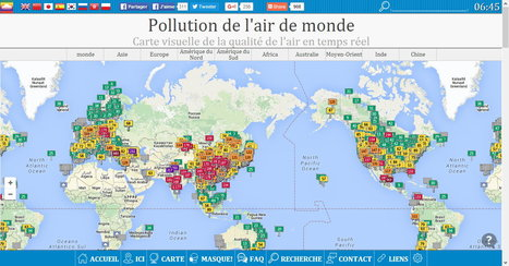 #Pollution de l'#air de #monde : #Carte #visuelle de la #qualité de l'air en temps réel | RSE et Développement Durable | Scoop.it