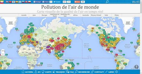 Pollution de l'air de monde : Carte visuelle de la qualité de l'air en temps réel | Coopération, libre et innovation sociale ouverte | Scoop.it