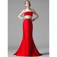 [US$ 114.99] Mořská panna Bez ramínek Dlouhá vlečka Taffeta Šaty pro družičku S Volán Šerpy (007004198) | fashion dress | Scoop.it